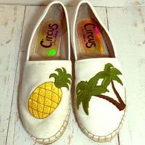 Circus Sam Edelman Pineapple PalmTree Canvas Flat